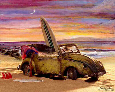 Volkswagen Cabriolet Picture Print Poster ~ LARGE EDITION ~ VW by Cruiser Art