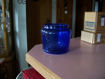 Royal Lace cobalt blue cookie jar bottom