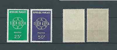 FRANCE EUROPA - 1959 YT 1218 à 1219 - TIMBRES NEUFS** LUXE