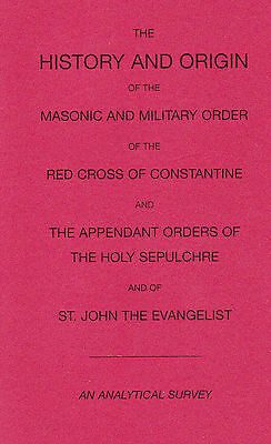 1007. Jackson - History of the Red Cross of Constantine. Signed. 2000.