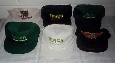 6 Different Vintage Snapback Hats Caps 1980s Motorcycle Harley Davidson Goldwing