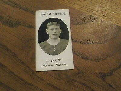 1907 Original Taddy Prominent Footballers Woolwich Arsenal Player J Sharp