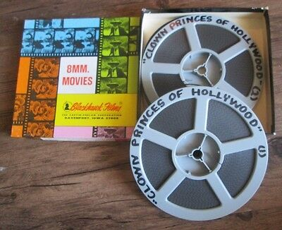 """Two 8mm Films """"Clown Princes of Hollywood""""  I & II"""