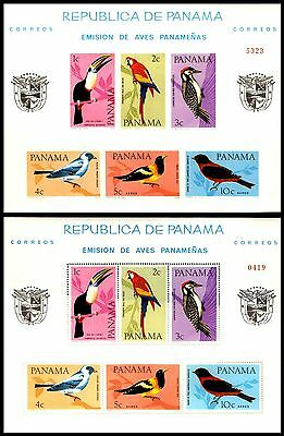 Panama-Birds-1965-.perforate And Imperforate-