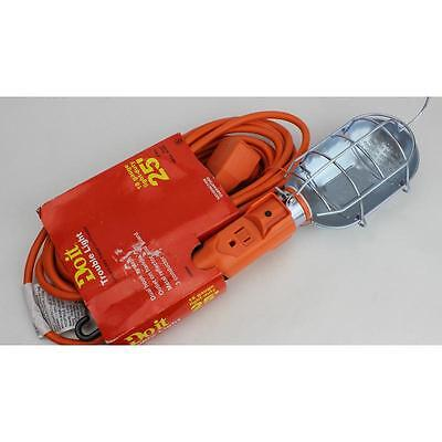 25' Metal Trouble Light Extension Cord Do It Best Work Lights 512010 Orange