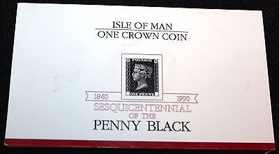 The Sesquicentennial of Penny Black 1 Crown Coin  W Presentation Folder Unc