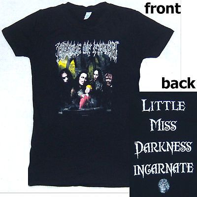 Cradle Of Filth Little Miss Darkness Baby Doll Girls Shirt Small New