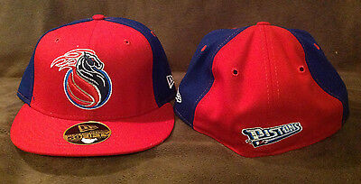 super popular 9db4b 0efe6 Detroit Pistons NEW ERA 59FIFTY Fitted Hat NBA Red Blue Throwback Logo 7 1