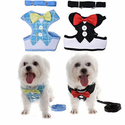 New Small Pet Dog Puppy Cat Adjustable Soft Harness Lead Leash Collar Strap Vest