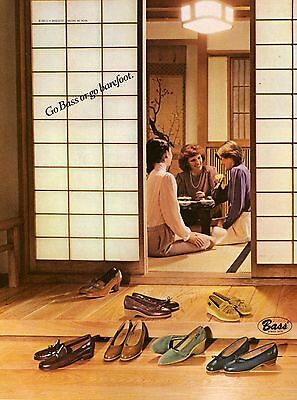 1981 Bass Shoes Footwear Japanese Sushi Print Ad Vintage Advertisement VTG 80s