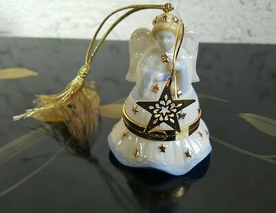 Lenox China Treasures Collection Angel w Star Trinket Box 3in Tall