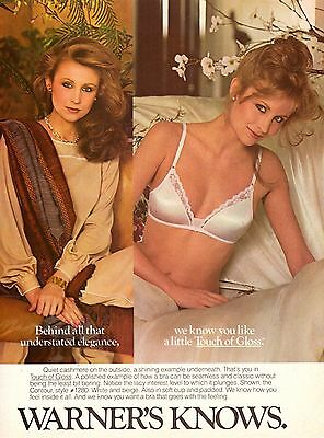 1981 Warner's Lingerie Bra Sexy Woman Print Ad Vintage Advertisement VTG 80s