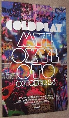 Coldplay poster Mylo Xyloto - Coldplay poster - 11 x 17 inches - Graffiti style