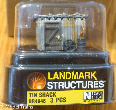 Woodland Scenics #4946 Tin Shack - Built-&-Ready / Landmark Structure (N Scale)
