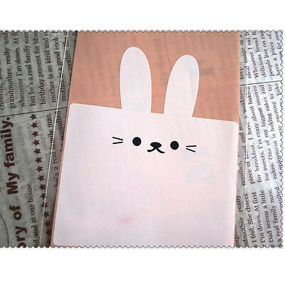 50pcs Clear Self-adhesive Rabbit Cookie Packaging Bags For Biscuits Snack Baking