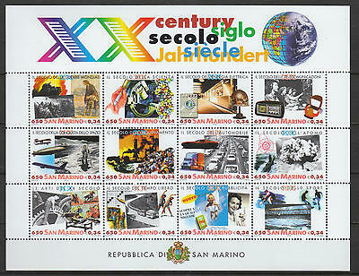 U/l962 - San Marino: 2000 -Fine Sheet- Pollution- Energy - Cars- Science -Mnh **