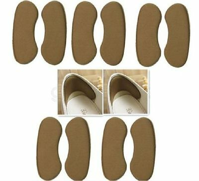Fabric Sticky Gel Back Heel Grip 5Pairs Liner Shoe Insert Pad Cushion Insole U87
