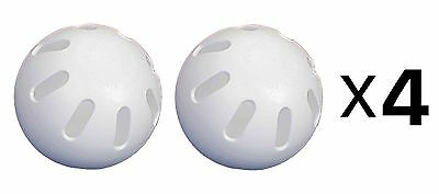 Unique Official Whiffle Ball Plastic Baseball Indoor Outdoor 2 Pack (4-Pack)