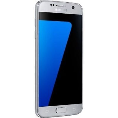 Brand New Samsung Galaxy S7 SILVER Lte 32GB Unlocked Smart Phone-1Year Wty+6GIFT