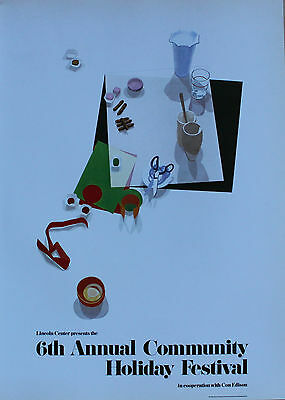 John Moore Lithograph 6th Annual Community Holiday Festival Lincoln Center 1980