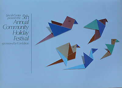 Todd McKie Lithograph 5th Annual Community Holiday Festival Lincoln Center 1980