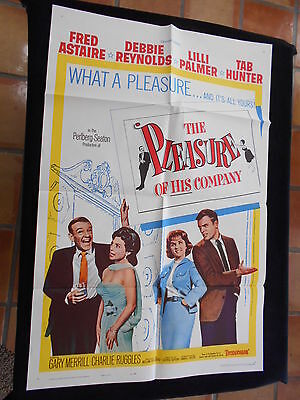Pleasure Of His Company Original One Sheet  Debbie Reynolds  Fred Astaire