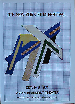 Frank Stella Lithograph 9th New York Film Festival Vivian Beaumont Theater 1980