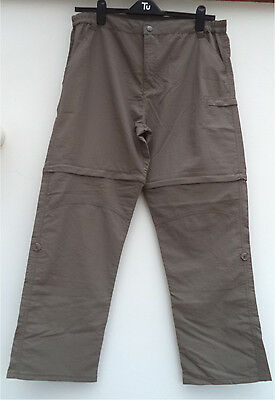 Crivit,new,mens,light Brown,versitile , Polyamide,outdoor Trousers-Size Large