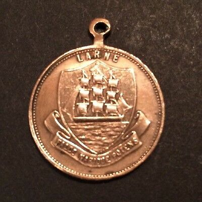 Antique Fob/Pendent/Coin Larne Gaints Causeway Ulster Ireland