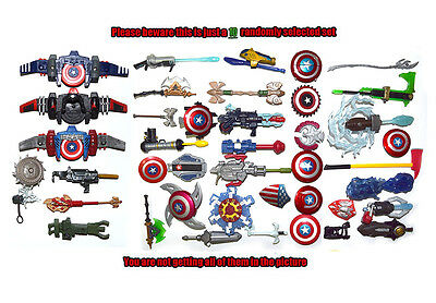 Lot of 10 Random Marvel Universe Captain America Thor Shield Weapons Accessories