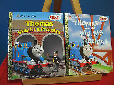 2 Thomas The Train Little Golden Books~EUC~Made In The USA~Low Shipping