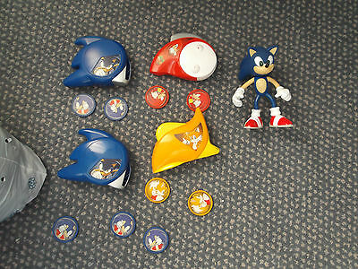 Sonic Hedgehog figure and 4 disc shooters