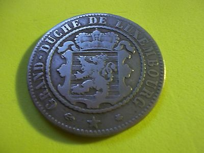 Quite Rare Grand  Duche De Luxembourg 10 Centimes Coin Dated 1865 [#c399]