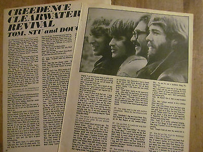 Creedence Clearwater Revival, CCR, Two Page Vintage Clipping