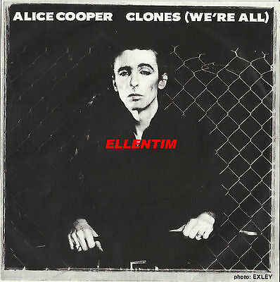 """Alice Cooper 1980 Portugal Clones (We're All) 7"""" Vinyl Single Picture Sleeve Ps"""