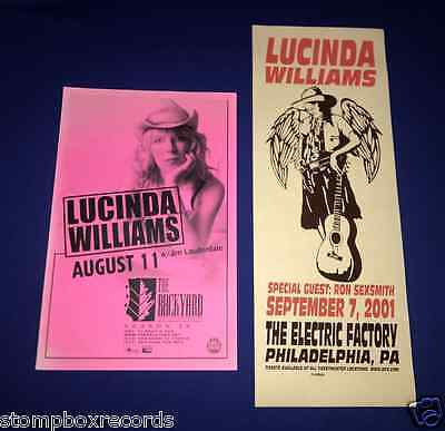 (2)vintage Lucinda Williams/Ron Sexsmith CONCERT POSTER Electric Factory$ Austin