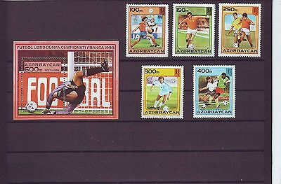 Azerbaijan - Sg267-Ms272 Mnh 1995 World Cup Football Championship