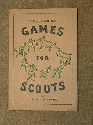 MacKenzie - Games for Scouts - enlarged edition 1955 printing