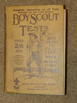 Boy Scout Tests - UK book 670 pages - 1915