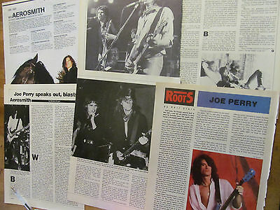 Joe Perry, Lot of Clippings, TWELVE Pages