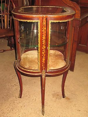 Antique French Style Inlaid Display Vitrine