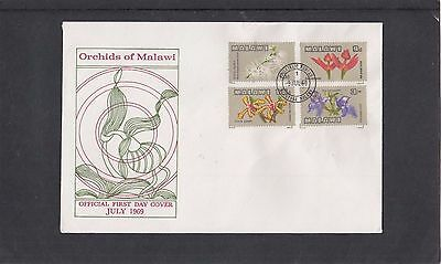 Malawi 1969 Orchids First Day Cover FDC Malawi fdi h/s