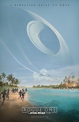"""Star Wars movie poster - Rogue One poster 11"""" x 17""""  Star Wars poster Death Star"""