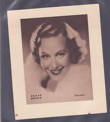 Film Stars 1930s Insert 166x138mm issued by DC Thomson Grace Moore