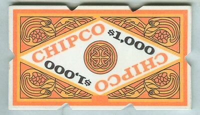 Chipco Plaque ($1000) Manufacturer's Sample (Notched)