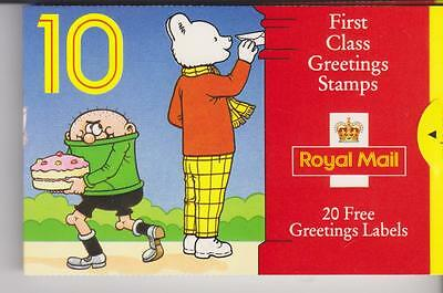 10 First Class Greetings Stamps  Booklet