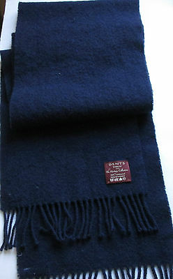 Dents The Heritage Collection classy solid Navy wool Scarf made in Scotland