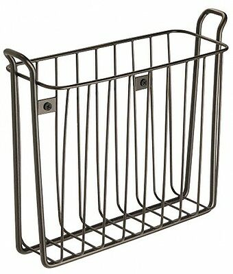 InterDesign Classico Wall Mount Newspaper And Magazine Rack For Bathroom -