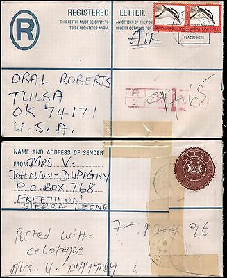 Freetown to Oral Roberts, Tulsa OK, 1959, registered