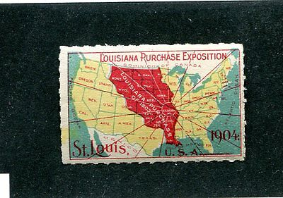 Vintage Poster Stamp LOUISIANA  PURCHASE EXPOSITION St Louis Worlds Fair 1904
